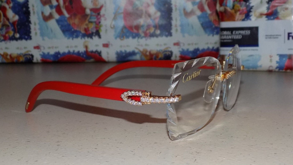 Cartier Smooth Acrylic LIMITED 2019 Red Buffalo C Décor Sunglasses SHABOWHITA