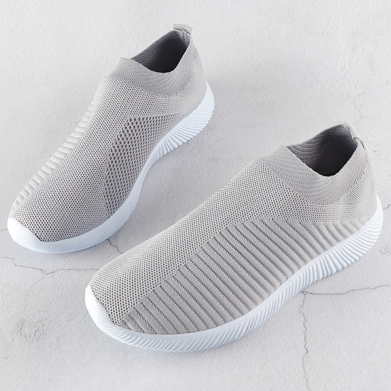Knitted Vulcanized Mesh Sock Sneakers for women