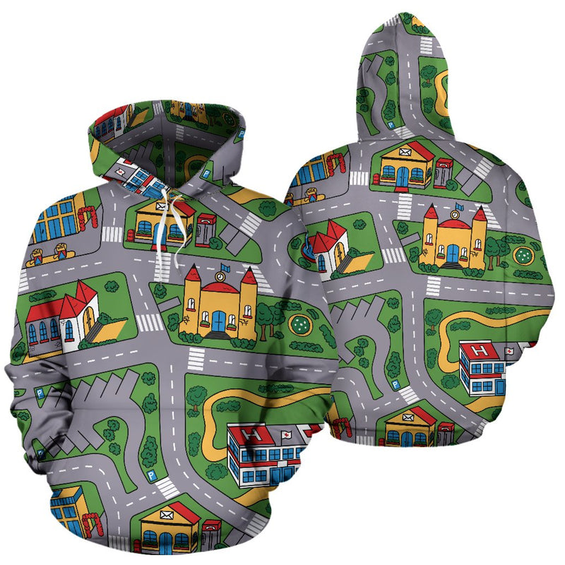 Carpet Track Hoodie front and back