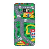 Carpet Track Samsung S7 Edge Case picturing Mats Baby Kids Rug CITY Carpet Car Play Mat Track