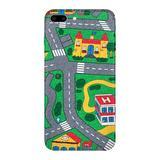 Carpet Track iPhone 8 PLUS Case picturing Mats Baby Kids Rug CITY Carpet Car Play Mat Track