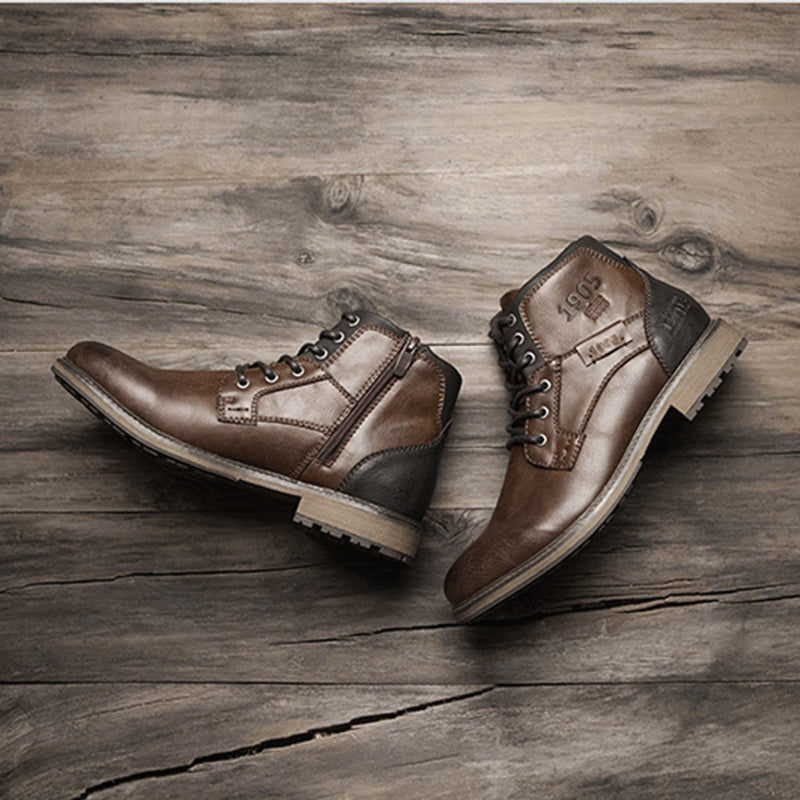 Retro Leather Men Boots 2020