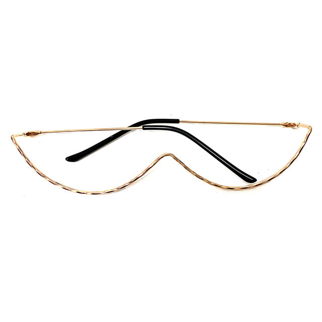 Curved Sunglasses Eyewear Decoration