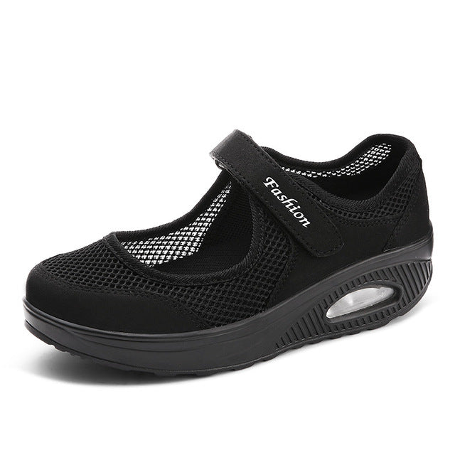 sport women mesh shoes