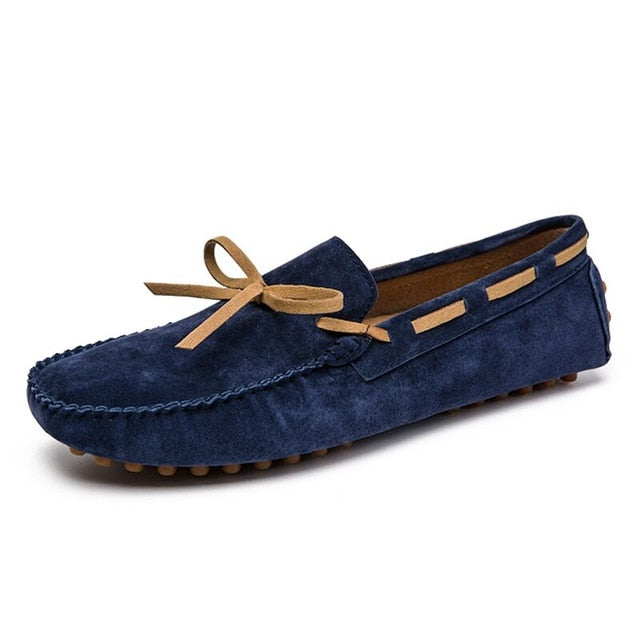 blue loafer boat shoes for men