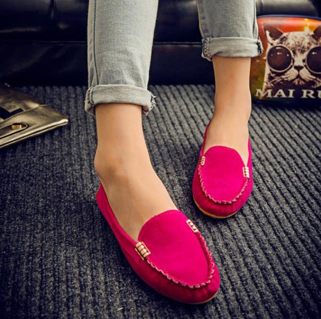 woman with loafer at office