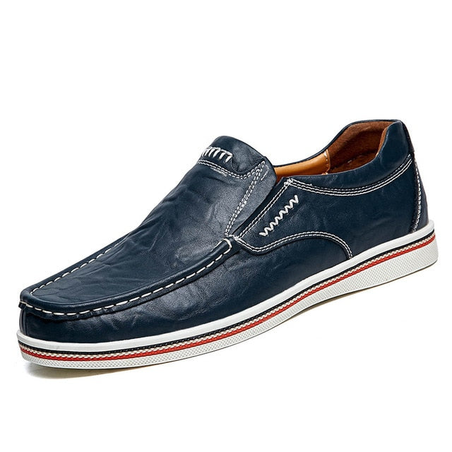 leather slip on shoes for men