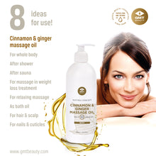 Load image into Gallery viewer, GMT CINNAMON & GINGER MASSAGE OIL 500ML