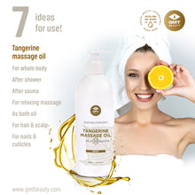 Load image into Gallery viewer, GMT MASSAGE OIL W/TANGERINE OIL 500ML