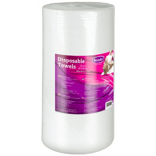 BF DISPOSABLE SOFT SPUNLACE TOWELS IN ROLL, 35x70cm, 100p.