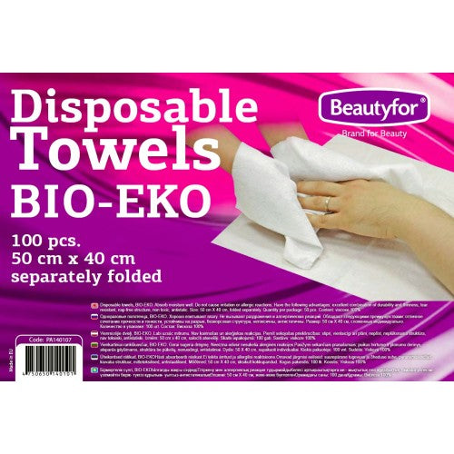 DISPOSABLE TOWELS, BIO-EKO, 50x40cm, 100p.