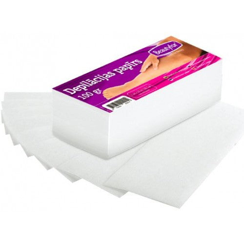 BF DEPILATORY WAX PAPER STRIPS, 85gr/m, 100 pieces