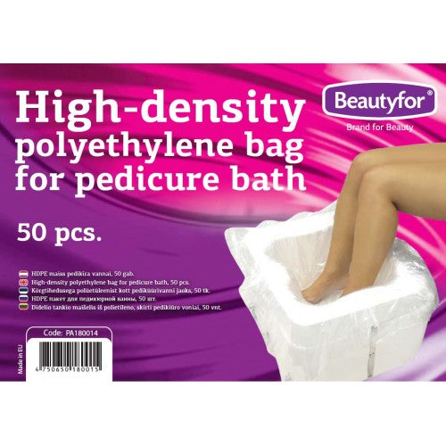 BF HI-DENSITY POLYETHYLENE BAGS FOR PEDICURE BATH, 50 pieces