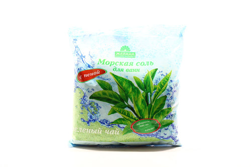 BATH SALT Green tea, with foam, 500gr