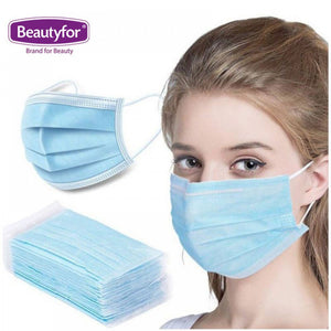 3-PLY DISPOSABLE FACE MASKS, 50P.