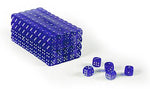 Set of 200 clear Blue translucent 16mm gaming dice