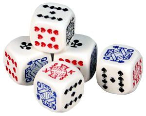 poker dice - 6-Sided 16mm dice