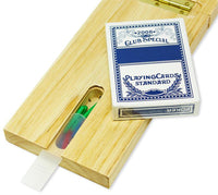 3-Track classic wooden Cribbage set and of playing cards