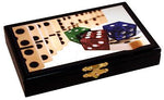Deluxe double 6 Dominoes set with wooden case - 26 tiles