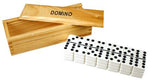 Double 9 Dominoes with Wooden Box w/55 tournament sized tiles