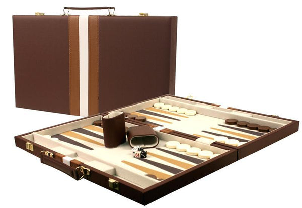 "Leatherette Backgammon Set - 21""x18"""