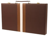 "Leatherette Backgammon Set measures 21""x18"""