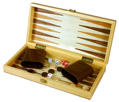 3-in-1 Wood Chess, Checkers, and Backgammon Game Set With a Folding Carrying Case