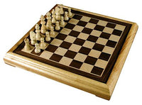 "16"" Deluxe Wooden Chess Set with 3"" king"
