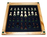 "16"" Deluxe Wooden Chess Set with 3"" king and storage"