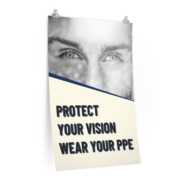 Protect Your Vision - Economy Safety Poster