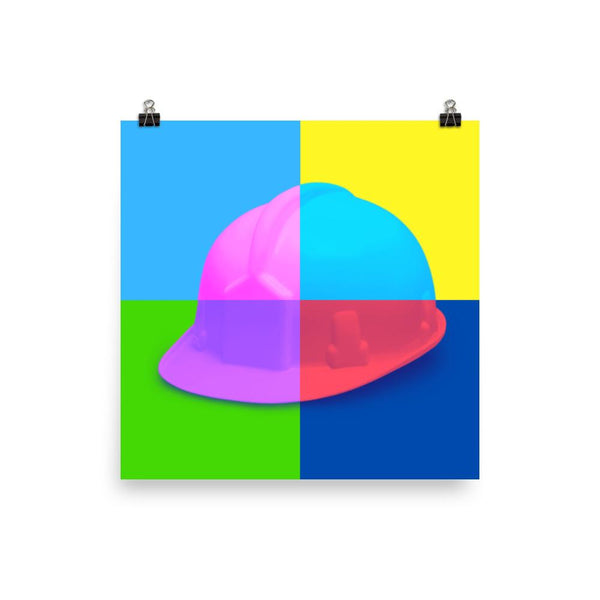 Colorful Safety Art - Hard Hat - Premium Safety Poster