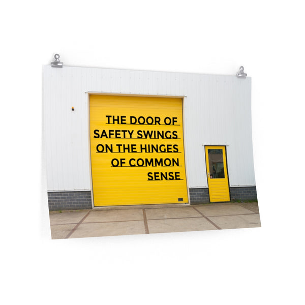 Door of Safety - Economy Safety Poster