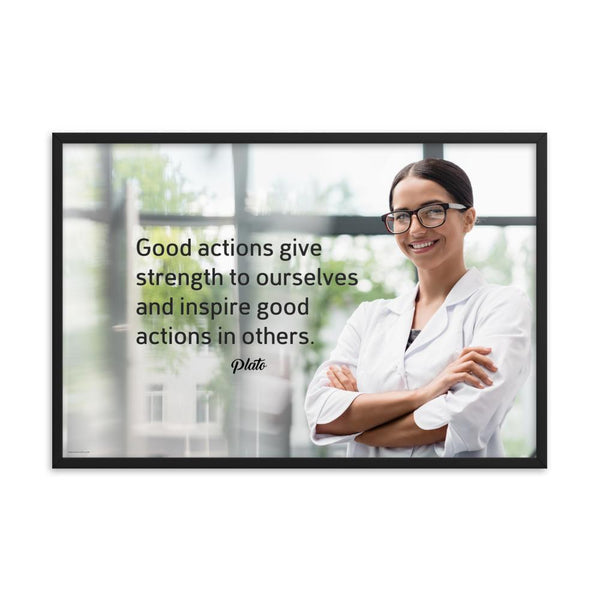 Good Actions - Framed Framed Inspire Safety 24×36