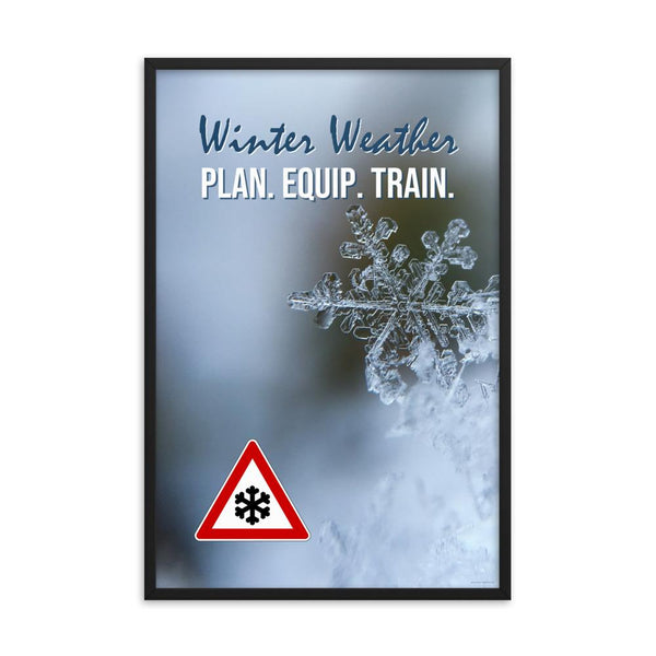 Winter Weather - Framed Safety Posters