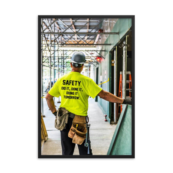 Safety Did It - Framed Framed Inspire Safety