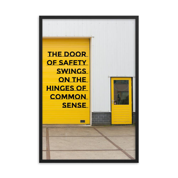 Door of Safety - Framed Framed Inspire Safety 24×36