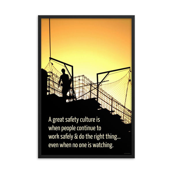Great Safety Culture - Framed Framed Inspire Safety