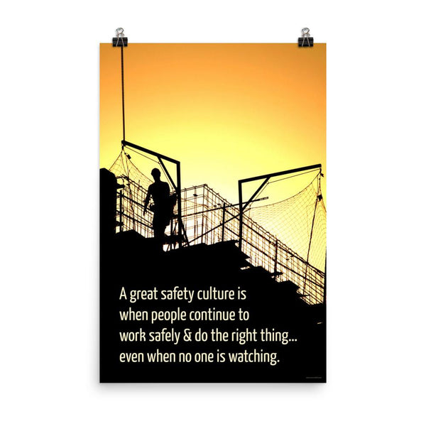 Great Safety Culture - Premium Safety Poster Poster Inspire Safety