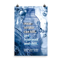 Prevent Heat Stroke - Premium Safety Poster Poster Inspire Safety