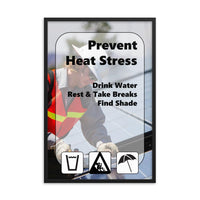 Prevent Heat Stress - Framed Framed Inspire Safety