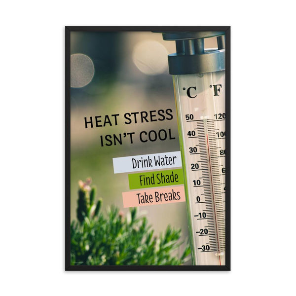Heat Stress Isn't Cool - Framed Framed Inspire Safety