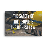 The Highest Law - Canvas Canvas Inspire Safety
