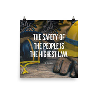 The Highest Law - Premium Safety Poster Poster Inspire Safety 18×18