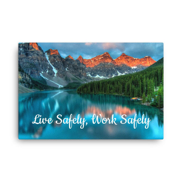 Live Safely - Canvas Canvas Inspire Safety
