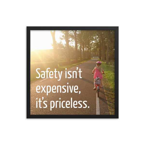 Safety Isn't Expensive - Framed Framed Inspire Safety 18×18