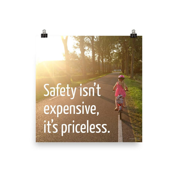 Safety Isn't Expensive - Premium Safety Poster Poster Inspire Safety 18×18