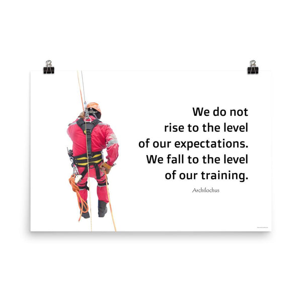 Rise To Expectations - Premium Safety Poster Poster Inspire Safety 24×36