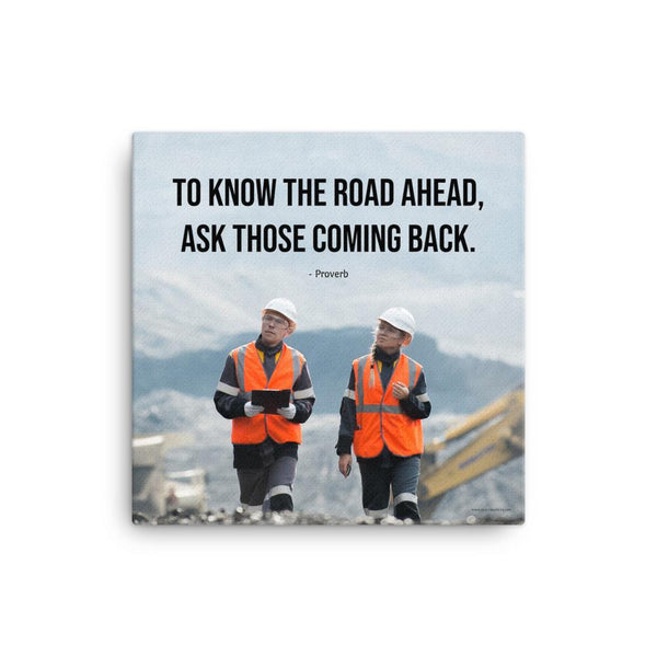 Road Ahead - Canvas Canvas Inspire Safety 16×16