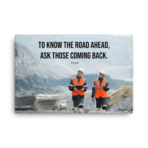 Road Ahead - Canvas Canvas Inspire Safety 24×36