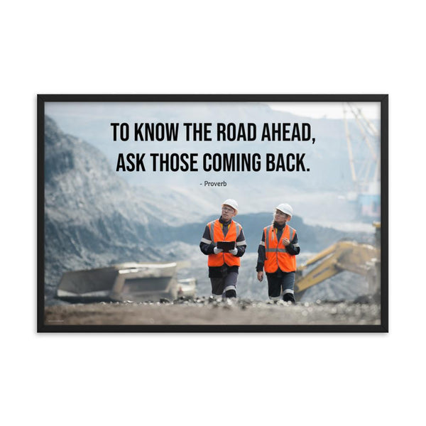 Road Ahead - Framed Framed Inspire Safety 24×36